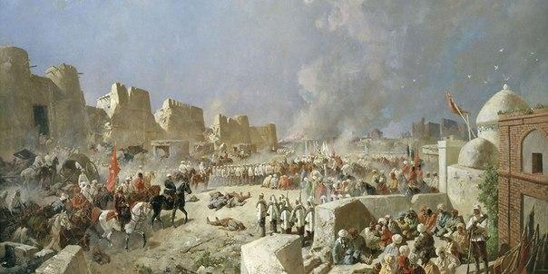 Вступление русских войск в Самарканд, художник Каразин Н.Н. 1868 год.