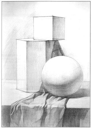 рисунки карандашом для начинающих натюрморт: