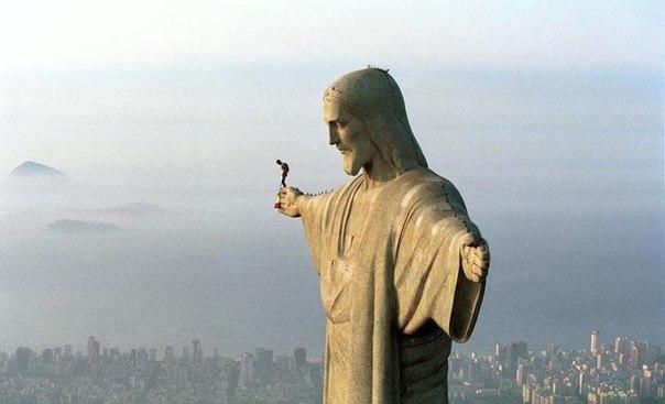 Бейсджампер в Рио, Бразилия