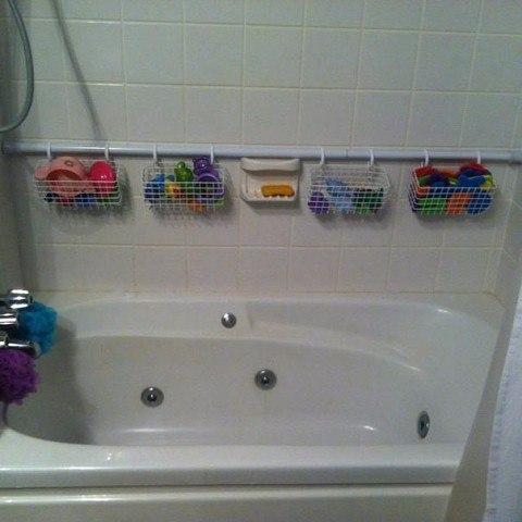 Как хранить игрушки в ванной (идея)