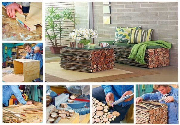 Уличную мебель своими руками