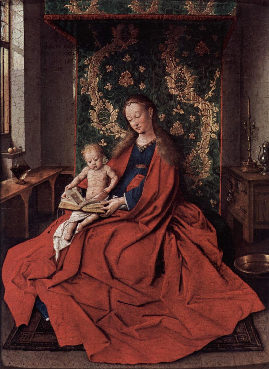 Ян Ван Эйк (1390-1441) картины Мадонн CKQedwRKcAU