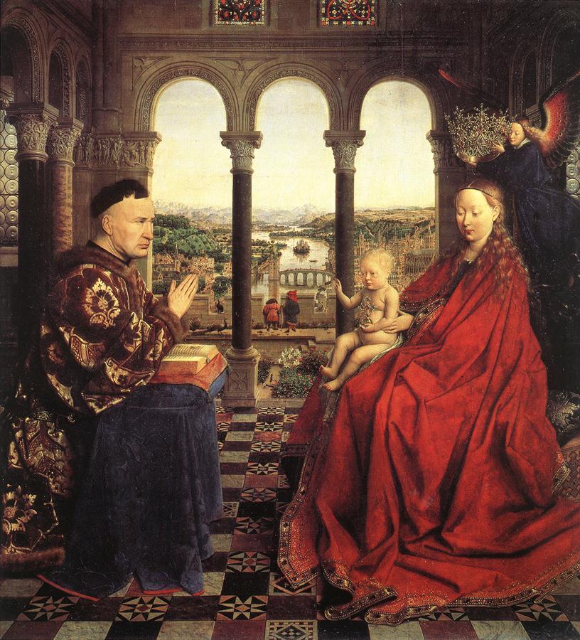 Ян Ван Эйк (1390-1441) картины Мадонн XRjGmXgeBXI