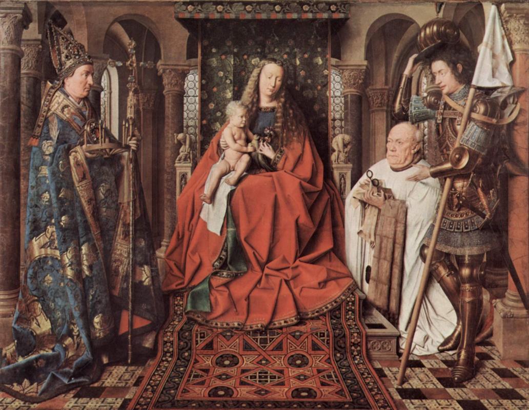 Ян Ван Эйк (1390-1441) картины Мадонн YLbxhcDvxu4