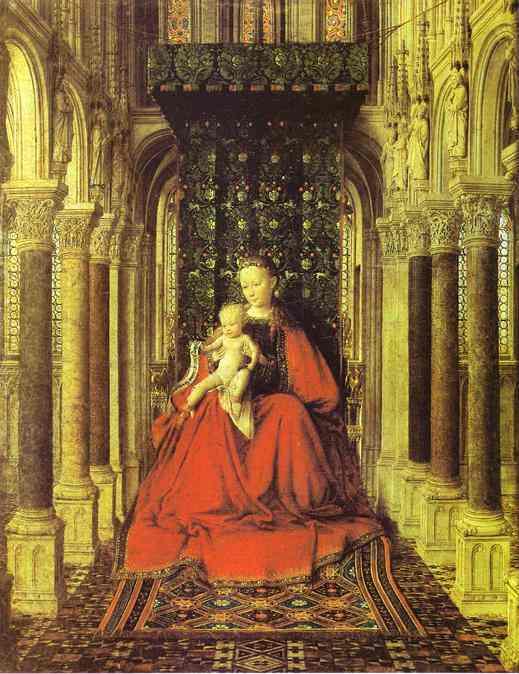 Ян Ван Эйк (1390-1441) картины Мадонн GJezrJi573A