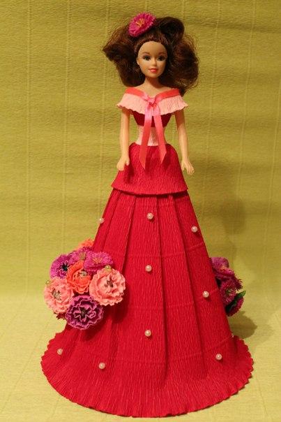 Платье с конфетами для куклы (7 фото)
