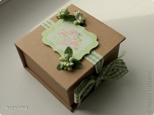 Подарочные коробки своими руками скрапбукинг