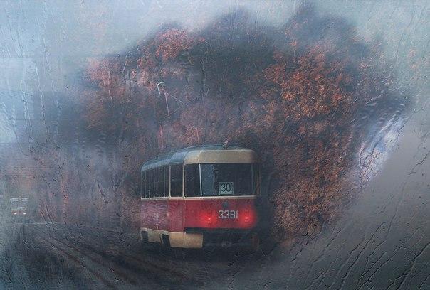 """Серия """"Московские трамваи""""."""
