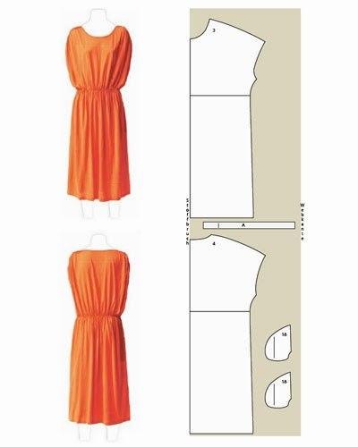 Шьем летние платья. Простые выкройки.