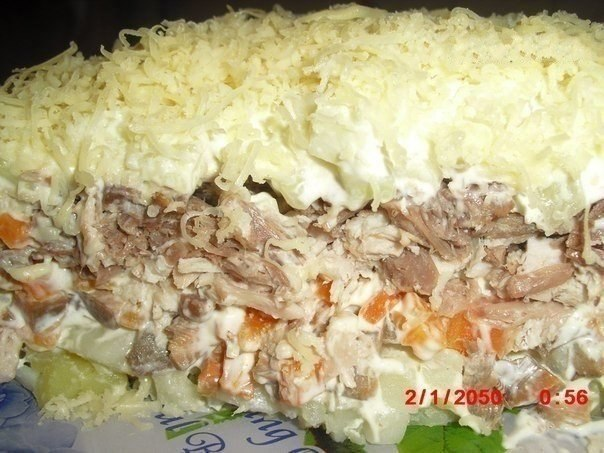 Салаты с мясом рецепты с фото простые и вкусные