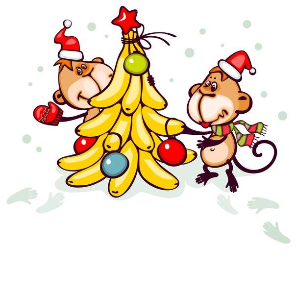 картинки с новогодними обезьянками