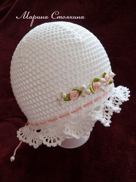 Нарядный комплект для девочки - Розовый жемчуг . Автор - Марина Стоякина. Связан из 100 немецкого хл...