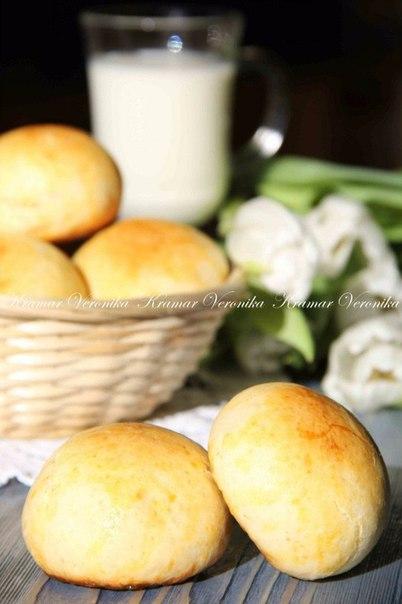 Творожные булочки без масла