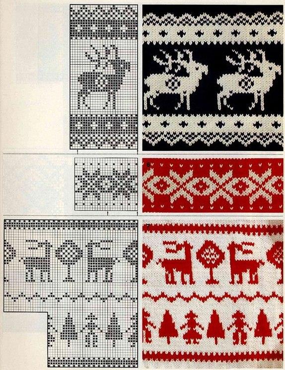 Схемы олени узоров 20 фотография