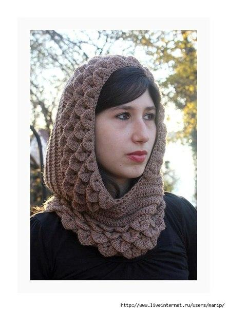 Ideas para el hogar: Capucha medieval tejida a crochet
