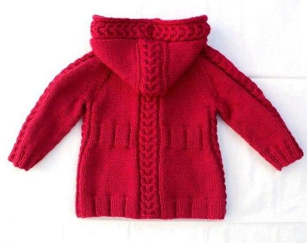 схема вязания реглан пальто вязаное детское