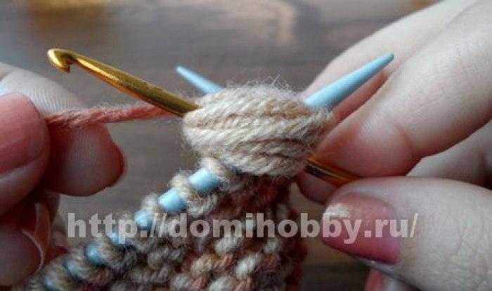 Вязание спицами узор пружинка 12