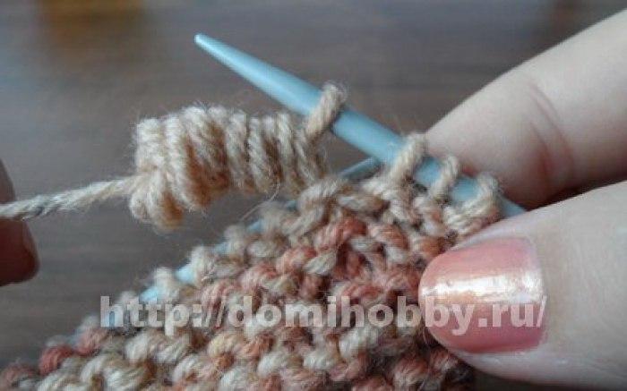 Вязание спицами узор пружинка 100