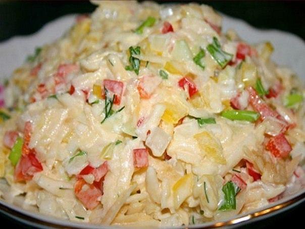Быстрые салаты. Рецепты простых и быстрых салатов. | Снова ...