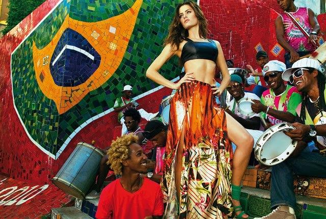 изабели фонтана в яркой фотосессии в бразилии