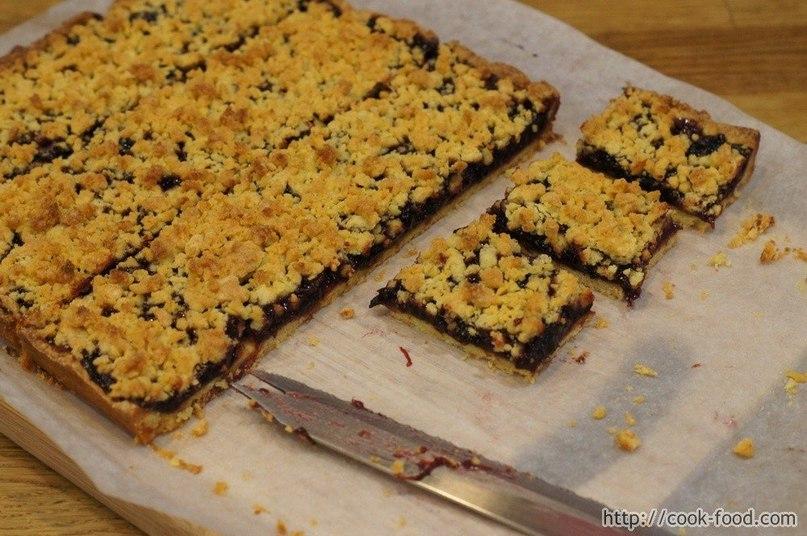 Тертый пирог с вареньем на маргарине рецепт