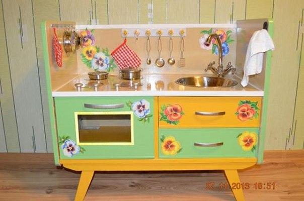 Детская игрушечная кухня своими руками. Идеи для вдохновения…. (8 фото) - картинка