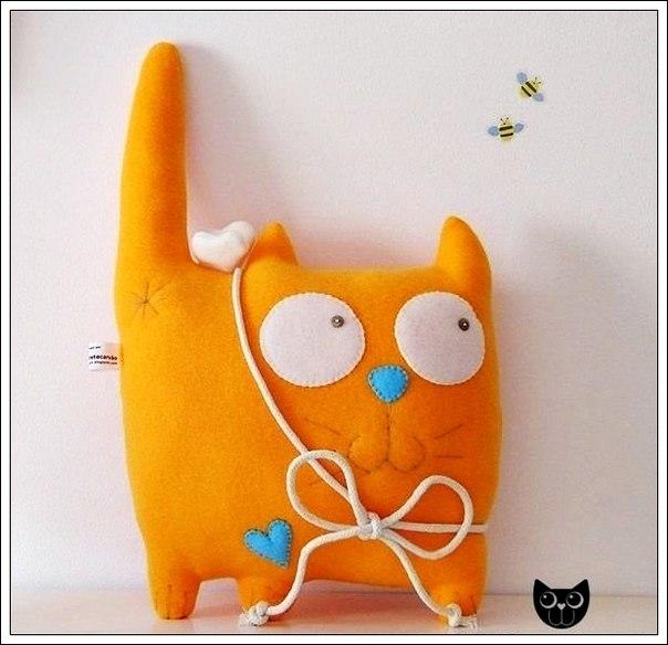Котик мягкая игрушка своими руками