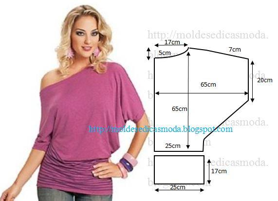 Блузка без выкройки своими руками фото
