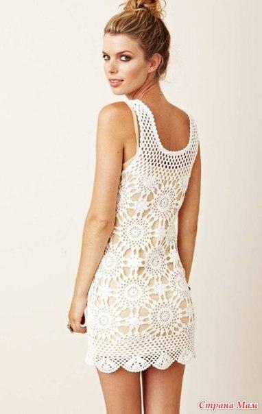 Платье или сарафан. Вязание онлайн (9 фото) - картинка