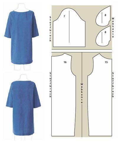 Шьем платья. Простые выкройки. (8 фото) - картинка