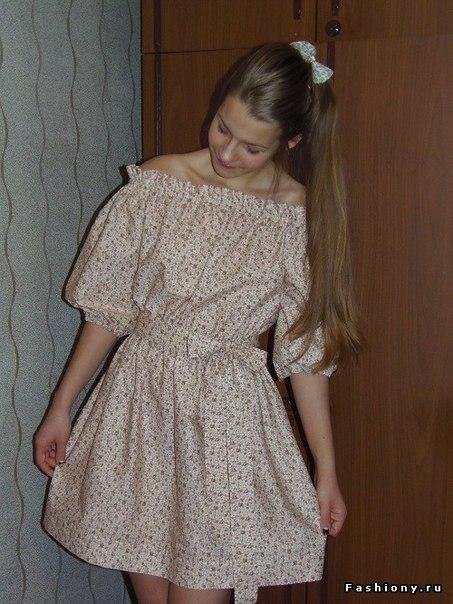 Шьем платье крестьянка . Мастер-класс. (9 фото) - картинка