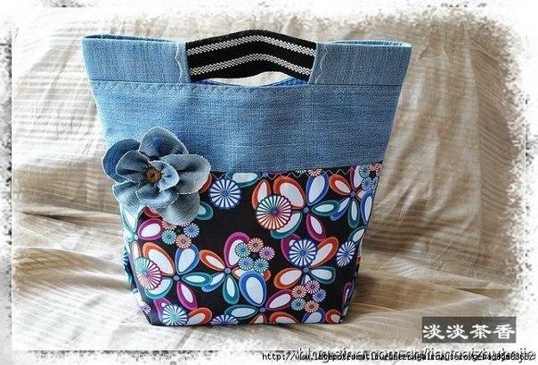 Шьем джинсовые сумочки. Идеи для вдохновения…. (6 фото) - картинка