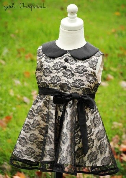 Шьем нарядное платье для девочки (9 фото) - картинка