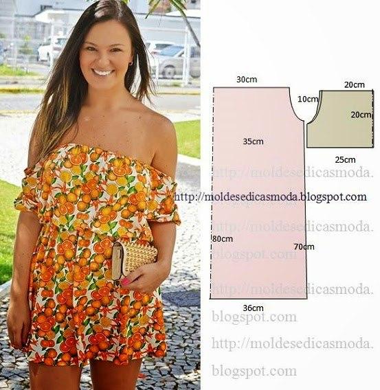 Шьем летние наряды. Простые выкройки. (5 фото) - картинка
