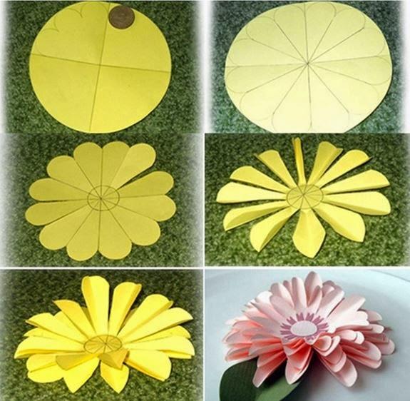 Поделка своими руками цветы из цветной бумаги