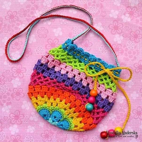 Вяжем сумочку для девочки. Мастер-класс…. (9 фото) - картинка