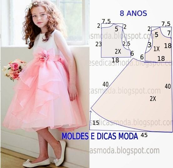 Шьем платья для девочек (6 фото) - картинка