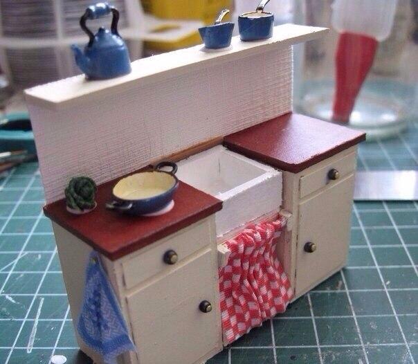 Как сделать кухня для кукол видео