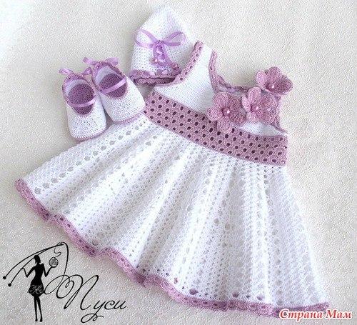 Платье от Пуси для девочки. Подборка схем....