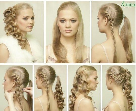 Прическа на свадьбу своими руками на средние волосы