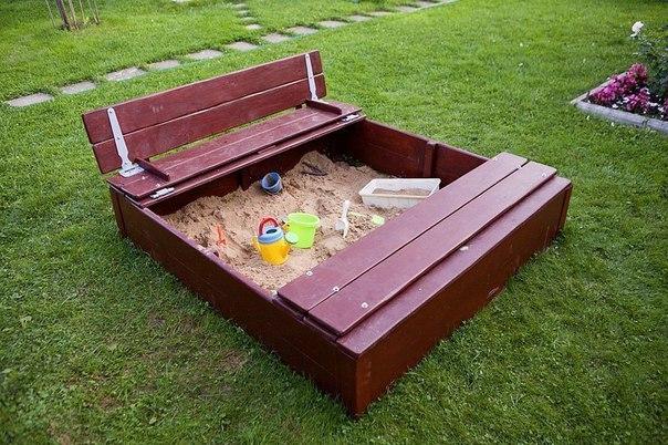 Закрытая детская песочница (9 фото) - картинка