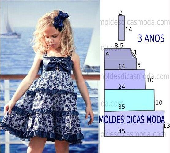 Шьем летние платья для девочек (5 фото) - картинка