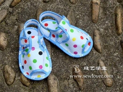 Шьем детские пинетки сандалики (9 фото) - картинка