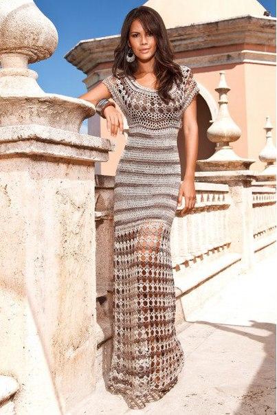 Платье Клеопатра , вязанное крючком (6 фото) - картинка