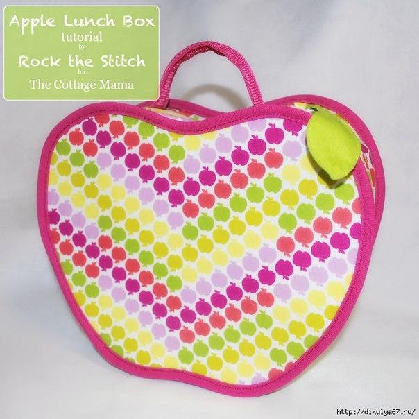 Шьем сумочку в форме яблока. Мастер-класс…. (9 фото) - картинка