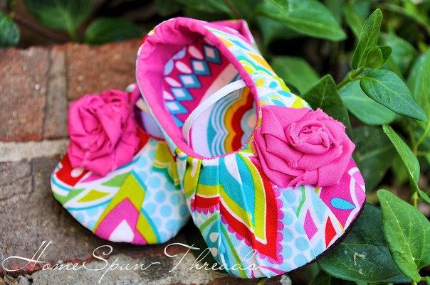 Шьем пинетки туфельки (6 фото) - картинка