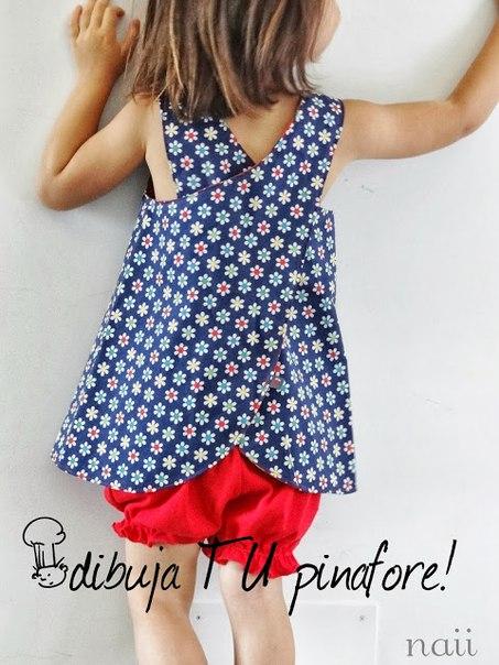 Шьем сарафан-фартук для девочки (7 фото) - картинка