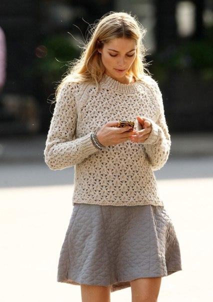 Вяжем пуловер (7 фото) - картинка