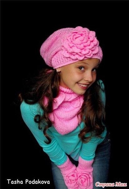 Шапочка для девочки по мотивам шапочки Таши Подаковой… (6 фото)