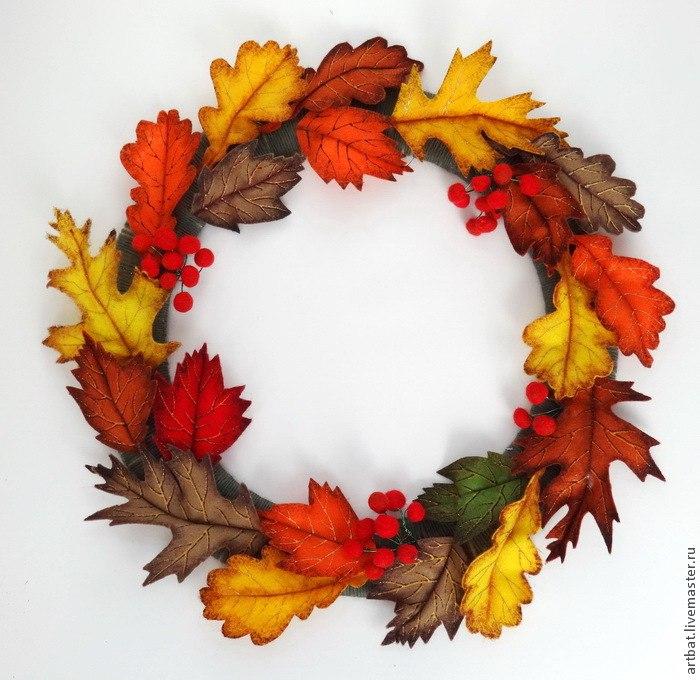 осенние листья из фетра своими руками мастер класс - Всё делаем сами